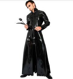 Pvc Cosplay Clothing UK - Cosplay Halloween Costumes Black cosplay clothing PVC gay sexy Fun uniforms