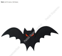 online shopping 4 quot halloween bat wings logo music band iron on sew on patch heavy - Online Halloween Music