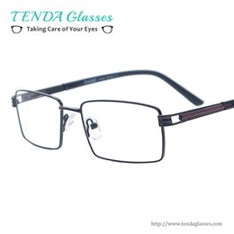 spring hinges Canada - Wholesale- Men Classic Eyeglasses Metal Rectangle Spectacles with Spring Hinge For Myopia Reading Prescription Multifocal Lenses