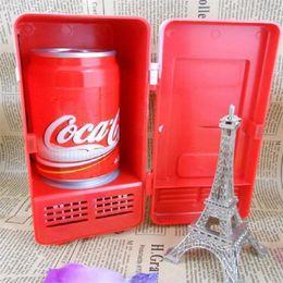 $enCountryForm.capitalKeyWord NZ - Mini Desktop USB Fridge small desk fridges with door to fit a coke can in Wholesale Free shipping