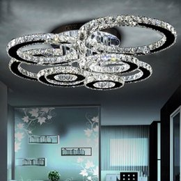 K9 Chandeliers Living Room Crystal Ceiling Light Round LED Chandelier 1 2 4 6 8 Heads Dinning Restaurant 5730 Chips
