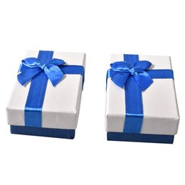 Chinese  Argositment 48pcs Blue bow Fashion high quality paper pendant gift box manufacturers