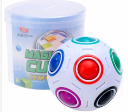 $enCountryForm.capitalKeyWord NZ - In stock Rainbow Ball Magic Cube Speed Football Fun Creative Spherical Puzzles Kids Educational Learning Toy game for Children Adult Gifts