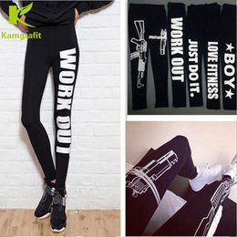 $enCountryForm.capitalKeyWord Canada - Fahion Work Out Letter Printing Sports pants Yoga Pants Casual Pants Cotton Skinny High elasticity Underwear Women's Clothing 10 Colors