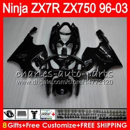 1999 Kawasaki Zx7r Canada - 8Gifts 23Colors For KAWASAKI NINJA ZX7R 96 97 98 99 00 01 02 03 18HM1 gloss black ZX750 ZX 7R ZX-7R 1996 1997 1998 1999 2000 2003 Fairing
