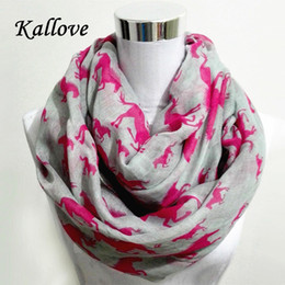Cotton Viscose Scarves Australia - Wholesale- New fashion Women Ladies Viscose Cotton big small Horse Print scarf horese infinity Animal horse Scarves Shawl Wrap