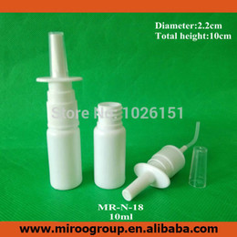 medical bottles Australia - Pharmaceutical Medical Grade 50Sets lot 1 3oz 10ml HDPE Plastic Nasal Spray Pumps Bottle, Oral Nasal Atomizers Spray Applicators