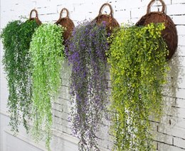 $enCountryForm.capitalKeyWord Canada - Artificial flower vine orchid fake rattan wall hanging living room interior air conditioning pipe decorative plants