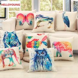 Chair World NZ - BZ107 Luxury Cushion Cover Pillow Case Home Textiles supplies Lumbar Pillow animal world decorative throw pillows chair seat