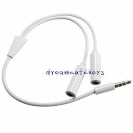 $enCountryForm.capitalKeyWord NZ - 3.5mm 1 Male to 2 Dual Female Audio Stereo Jack Headphone Y Splitter Cable Adapter for iphone Samsung HTC Universal