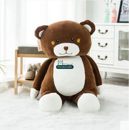$enCountryForm.capitalKeyWord UK - Dorimytrader New Cute 100cm Giant Soft Chocolate Hug Bear Plush Pillow Doll 39'' Big Cartoon Bears Stuffed Toy Baby Present DY61539