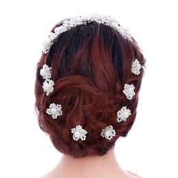 $enCountryForm.capitalKeyWord UK - Korean handmade flower bridal hairpins jewelry for women and girls pearl crystal rhinestones wedding hiar accessories