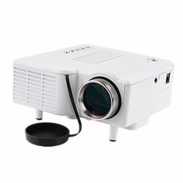Portable Gaming Laptop Canada - Wholesale-LED Projector projector UC28 Mini Portable Pocket mini PC&Laptop VGA USB SD AV HDMI Input Cinema Theater 1080p