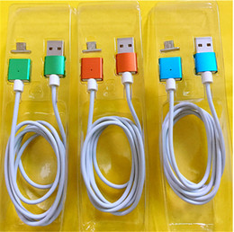 samsung magnet usb cable 2019 - 1M LED Magnetic Charger Cable Micro USB Magnet Metal Head TPE Charging Sync Data Cables for samsung galaxy s6 s7 edge s8
