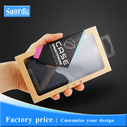 Iphone cases dIsplay online shopping - Universal Customize Logo Phone Case Cover Kraft Paper Packaging For iPhone Window Display retail packaging With Stickers Inner Trays
