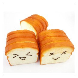 China New Arrival Bread Squishy Kawaii Toast Squishies Slow Rising Expression Card Cellphone Holder Hand Pillow Bread Scent Toys Slow Rising Gifts cheap tin car toys suppliers