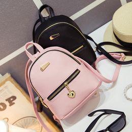$enCountryForm.capitalKeyWord Canada - Wholesale- LEFTSIDE 2016 new shoulder bag mini backpacks women leather school bag women's Casual style backpack purses bags for teenagers