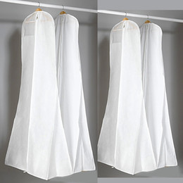 Grueso no tejido bolsa de polvo blanco para el vestido de boda de baile vestido de noche bolsas 180 * 70 * 25 CM ropa cubierta de almacenamiento de viaje cubiertas de polvo