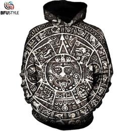 78d073556 Wholesale- Aztec Sun Hoodies Men New Fashion Autumn Winter Pullover Social  Club Hoodie Sweatshirt 3D Print Unisex Graphic Hooded Dropship