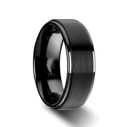 $enCountryForm.capitalKeyWord Canada - 6mm 8mm Titanium Wedding Rings Black Band in Comfort Fit Matte Finish for Men Women 6-14#
