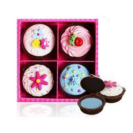 Cupcakes Mix Australia - 4pcs Set Daily Cake Lip Gloss 4 Colors Long Lasting Nude Makeup Sweet Girl Cupcake Lip makeup Waterproof Elegant Gift ZA2452
