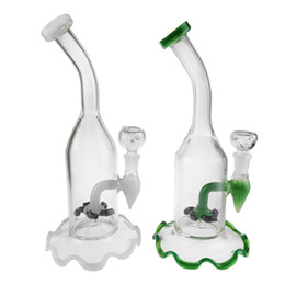 Smoking Lips UK - New Glass Water Bong Smoking Pipe With Colorful Lips Glass Pipes For Smoking Oil Rig 8 inches White and Green Color