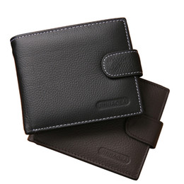 $enCountryForm.capitalKeyWord Canada - Quality Men Genuine Leather Wallet Brand Causal Style Male Money Bag Leather Cash Receipt Organizer Wallet Hasp Business Card Holder 1pcs