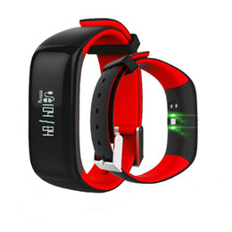 german used 2019 - P1 Smartband Watches Blood Pressure Bluetooth Smart Bracelet Heart Rate Monitor Smart Wristband Fitness for Android IOS