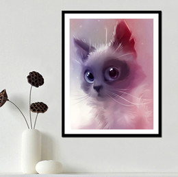 $enCountryForm.capitalKeyWord Canada - Pink Spirit Cat DIY 5D Diamond stitch Round 3D Diamond Stitch Tools Kit diamond mosaic Room Decor Without Frame
