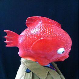 Опт Бесплатная доставка 2017 горячий продавать новый взрослый реалистичный полная голова животных Хэллоуин Маска латекс взрослых рыба маска для партии Хэллоуин косплей реквизит