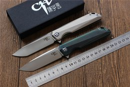 Free Edc Tools Canada - Free shipping,NEW CH3507 Flipper folding knife M390 Blade ball bearings TC4 Titanium handle camping hunting pocket fruit Knives EDC tools
