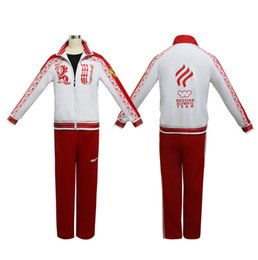 Wholesale yuri ice cosplay for sale - Group buy Yuri on Ice Cosplay Costumes Victor Nikiforov Sport Suit halloween Jacket coat