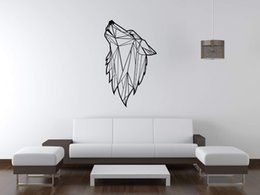 Wall Stickers Wolves Canada - High Quality Modern Geometric Wolf Animal Wall Decals for Kids Boys Bedroom Living Room Vinyl Waterproof Wall Stickers