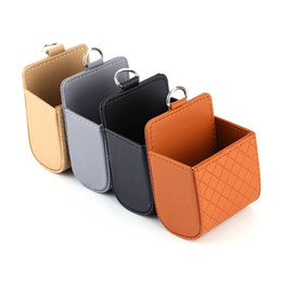 $enCountryForm.capitalKeyWord UK - Functional Auto Car Outlet Seat Back Tidy Storage Coin Bag Case Pocket Organizer Hanging Holder Pounch Box for Iphone