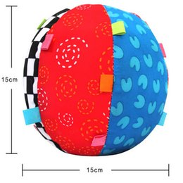 Nouveau Linge Bébé Pas Cher-Vente en gros - Brand New Design Colorful Music Bell Jouets pour enfants Baby Educational Soft Cloth Ball Hand Grasp Practicing