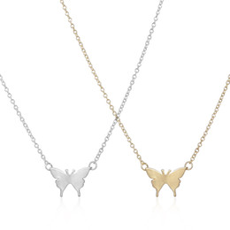 Cute long Chain neCklaCe online shopping - Hot selling New Arrival Gold Necklace Cute Butterfly Pendant Insect Necklaces for Women Simple Animal Women Long Necklace EFN004 F