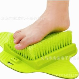 $enCountryForm.capitalKeyWord Australia - Feet Foot Bath Shower Brush Spa Washer Cleaner Scrubber Massager Wear With Sucker Can Hang Brushes Hot Sell 13zb J R