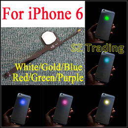 Chinese  For iPhone 6 LED Logo DIY Luminescent LED Light Glowing Logo Mod Panel Kit For iphone6 Back Housing Free Shipping manufacturers