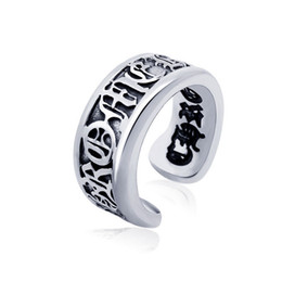 $enCountryForm.capitalKeyWord UK - Men's vintage roman alphabet stainless steel open rings designer titanium steel metal mixed rings jewelry accessories