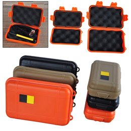 2017 Waterproof Portable Storage Containers Portable Outdoor Waterproof  Shockproof Airtight Survival Tool Storage Case Container Anti