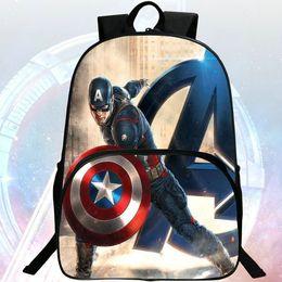 $enCountryForm.capitalKeyWord Canada - Captain America backpack Steven Steve Rogers picture daypack Super hero fans schoolbag Wolf man rucksack Sport school bag Outdoor day pack