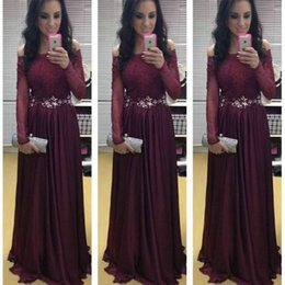 luxurious party gowns 2018 - Luxurious Cap Sleeve A-line Long Prom Dresses Chiffon Beaded Formal Prom Gowns Robe De Bal Party Evening Dresses cheap l