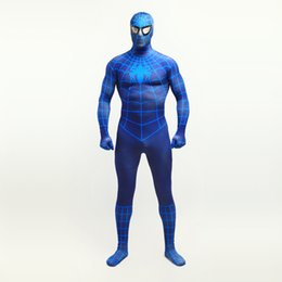 $enCountryForm.capitalKeyWord UK - Hot Sale 2017 Blue Lycra Spandex Zentai Bodysuit Superhero Spider-man Cosplay Costumes For Halloween