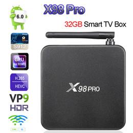 Media Player Australia - X98 PRO Amlogic S912 3GB 32GB Android 7.1 TV Box 3GB 16GB Octa Core 64Bit 2.4 5G Wifi 4K H.265 X98PRO Smart Set Top Box Media Player