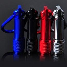 Aluminum Alloy Body Canada - Aluminum Alloy body led keychain flashlights mini leds with Carabiner Ring sports mini led flashlight keychain free shipping DHL