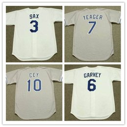 ... Men grey 3 STEVE SAX 6 STEVE GARVEY 7 STEVE YEAGER 10 RON CEY Los  Angeles ... d60880e496e