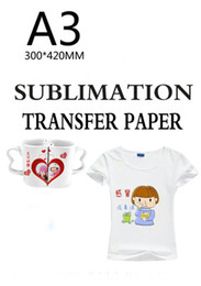 sublimation t shirt printing NZ - 50 Sheets A3 size Sublimation heat transfer paper,100gsm paper,usage in Clothing,T-shirt, Cup,Pillow etc