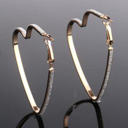 da9743143 Love Heart Shape Earrings Silver Gold Plated Hoop Earrings Rings Ear Heart  Pendants Fashion Jewelry for Women Gift DROP SHIP 170853