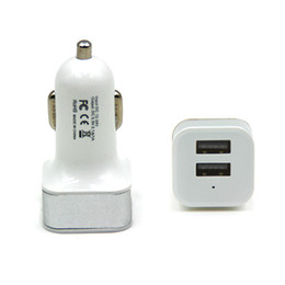 China 2 Port USB Universal Smart Fuse Circuit-Breaker Protection Dual USB Port 5V 2.1A 1A Car Charger For Apple iphone5 6 Samsung Blackberry suppliers