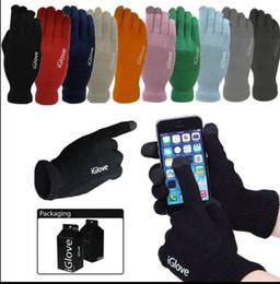 Iglove Touch Screen Gloves Smartphone Winter Warmer Luvas de dedo de malha Unisex Presentes de Natal luva 9 cores KKA3444